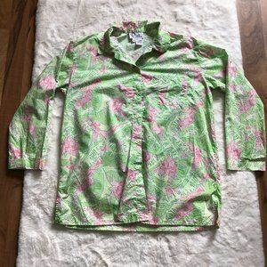 Lilly Pulitzer musical monkey button up size small